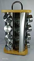 EB-4030 (4) Набор Для Специй С Бамбук Деревянной Подставка 16 Штук Квадрат