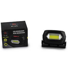 Налобный фонарь BL 203 COB USB CHARGE