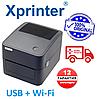 1 год ГАРАНТИЯ  Принтер этикеток Xprinter XP-420B Чёрный USB + Wi-Fi аналог Zebra GC420D