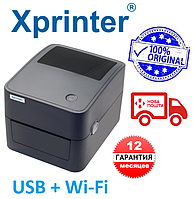 1 год ГАРАНТИЯ  Принтер этикеток Xprinter XP-420B Чёрный USB + Wi-Fi аналог Zebra GC420D, фото 1