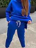 Теплый женский спортивный костюм с капюшоном из трехнитки 13-337, фото 6