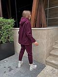 Теплый женский спортивный костюм с капюшоном из трехнитки 13-337, фото 5