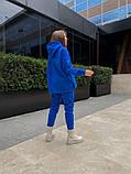 Теплый женский спортивный костюм с капюшоном из трехнитки 13-337, фото 8