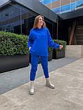 Теплый женский спортивный костюм с капюшоном из трехнитки 13-337, фото 2