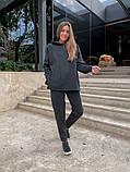 Теплый женский спортивный костюм с капюшоном из трехнитки 13-337, фото 3