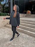 Теплый женский спортивный костюм с капюшоном из трехнитки 13-337, фото 7