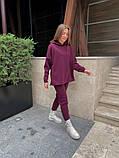 Теплый женский спортивный костюм с капюшоном из трехнитки 13-337, фото 4