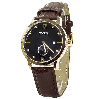 Мужские часы Swidu SWI-018 Brown-Black (3088-8708)