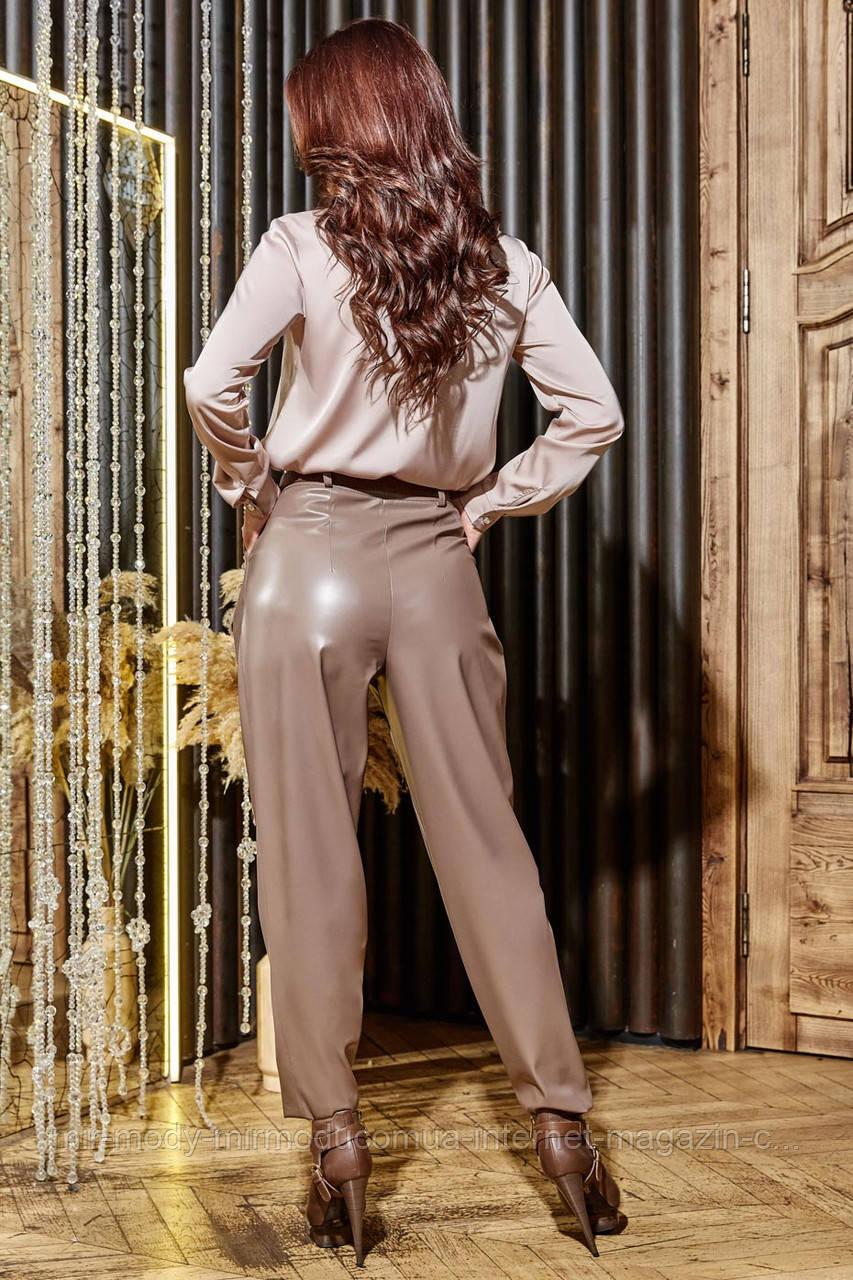 Штаны женские кожаные Бананы арт 1386 размер S,M,L,XL(севент)
