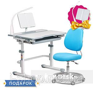 Комплект растущая парта Cubby Fressia Grey + детское эргономичное кресло FunDesk Pratico Mint