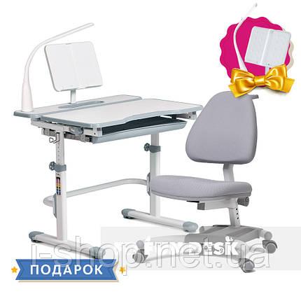 Комплект для школьника растущая парта Cubby Fressia Grey + кресло для дома FunDesk Ottimo Grey, фото 2