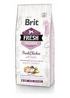 Brit Fresh (Брит Фреш) Chicken with Potato Puppy сухой корм для щенков и юниоров мелких и средних пород 12 кг