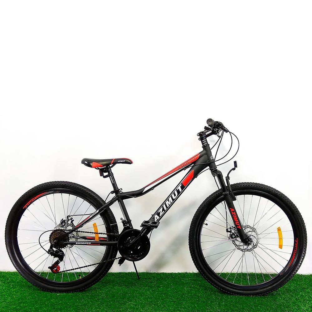 """Подростковый велосипед 24"""" Azimut Forest D черно-красный"""