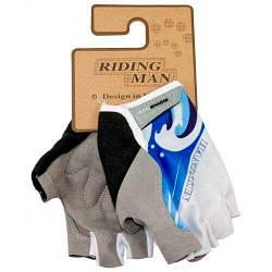 Перчатки велосипедные без пальцев Волна, размер XL