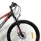 """Подростковый велосипед 24"""" Azimut Forest GD черно-красный, фото 3"""