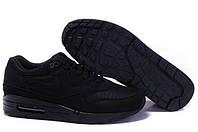 Кроссовки мужские Nike Air Max 87 All Black (найк аир макс 87, оригинал) черные