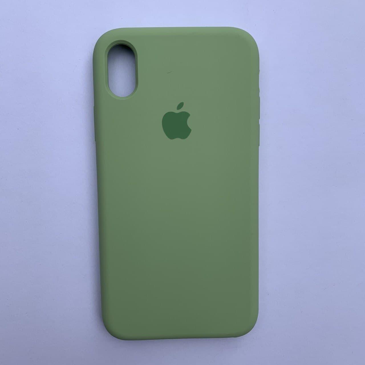Чехол-накладка Silicone Case для Apple iPhone XR Mint Green