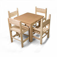 Дитячий стіл і стілець буковий, фото 1