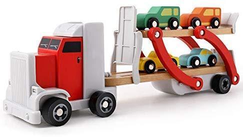 Деревянный автовоз с машинками Top Bright 120327