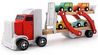 Деревянный автовоз с машинками Top Bright 120327, фото 1