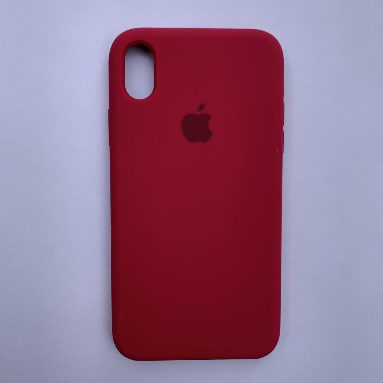 Чехол-накладка Silicone Case для Apple iPhone XR Rose Red