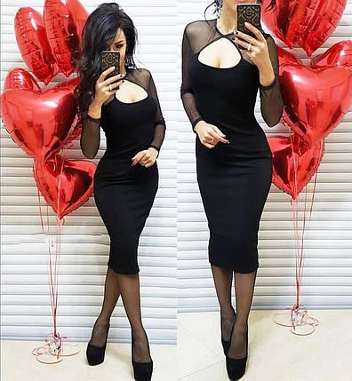 Платье элефант силуэтное с декольте  стрейч сетка, фото 2