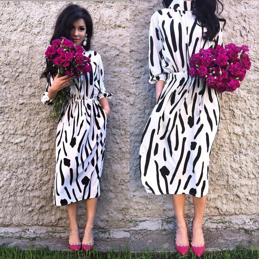Платье летнее талия на резинке свободное супер-софт