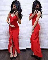 Платье облегающее летнее на запах с рюшей, фото 3