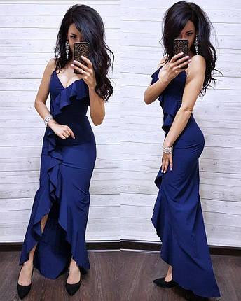 Платье облегающее летнее на запах с рюшей, фото 2