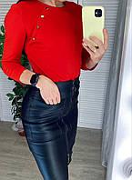 Женская кожаная юбка с молнией, фото 1