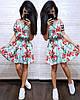 Платье летнее с талией на резинке с открытыми плечами, фото 4