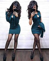 Костюм платье мини с декольте и накидка пиджак, фото 3