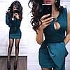 Костюм платье мини с декольте и накидка пиджак, фото 4