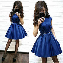 Платье нарядное из атласа с карманами выше колена, фото 2
