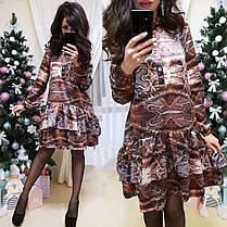 Платье свободного кроя с воланом шелк, фото 3