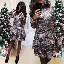 Платье свободного кроя с воланом шелк, фото 2