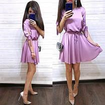 Платье выше колена с завышенной талией шелк, фото 3