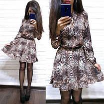 Платье свободное с леопардовым принтом софт, фото 3