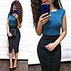 Платье карандаш высокая талия с разрезом замш, фото 6