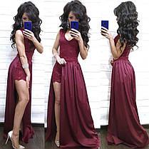 Нарядный комбинезон с шортами и имитацией платья из дорогого кружева, фото 2