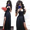 Нарядный комбинезон с шортами и имитацией платья из дорогого кружева, фото 5