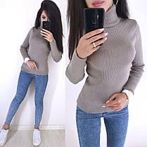 Стильный свитер гольф под горло длинный рукав, фото 2