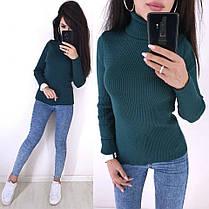 Стильный свитер гольф под горло длинный рукав, фото 3