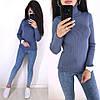 Стильный свитер гольф под горло длинный рукав, фото 4