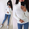 Стильный свитер гольф под горло длинный рукав, фото 6