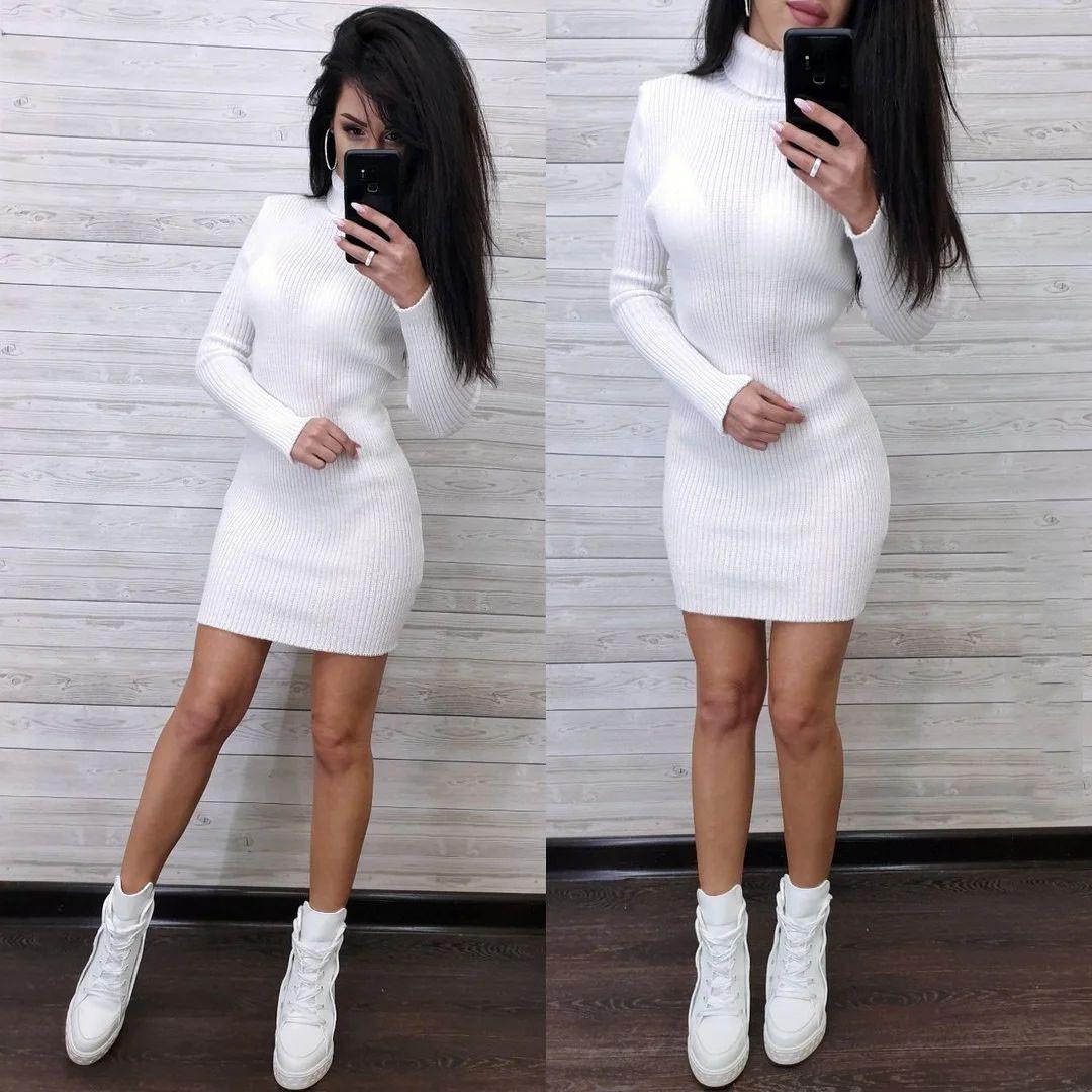 Платье гольф с длинным рукавом