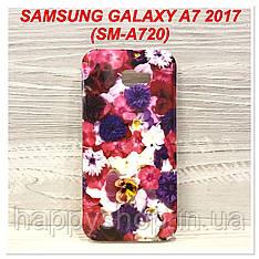 Силиконовый чехол с рисунком для Samsung Galaxy A7 2017(SM-A720) Flowers