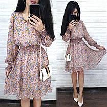 Стильне повітряне плаття до коліна висока талія з рукавом, фото 3