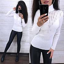 Стильний светр гольф під горло, довгий рукав, фото 2