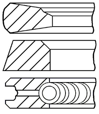 Кільця поршневі EUTZ 108.0 (3/2/3.5) BF4M1013, BF6M1013C/CP/E (пр-во групи kolbenschmidt), 800034410000